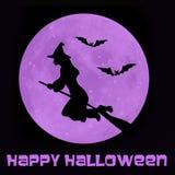 Strega felice di Halloween Fotografia Stock