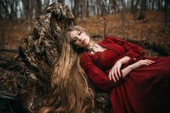 Strega in foresta fotografia stock libera da diritti
