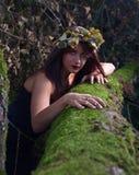 Strega in foresta scura Fotografia Stock Libera da Diritti