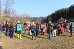 Streghe brucianti, una tradizione ceca Fotografia Stock Libera da Diritti