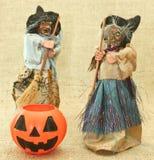 Streghe brutte terrificanti e Jack Lantern Pumpkin di Halloween Immagine Stock