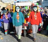 Streghe Carnaval Basilea 2013 di Waggis Immagine Stock