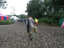Stregone di festival di Glastonbury immagini stock