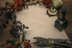 Stregone shaman witchcraft Tavola magica Medicina alternativa immagini stock
