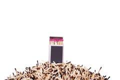 Streichholzschachtel mit Match schließen oben Lizenzfreies Stockbild