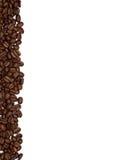 Streifen der Kaffeebohnen Stockfoto