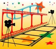Streifen des farbigen Filmes Stockfotografie