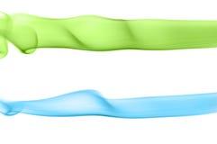 Streifen des farbigen Rauches vektor abbildung