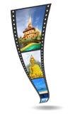 Streifen des Filmes 3D mit netten Abbildungen Stockfoto