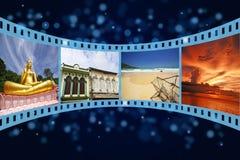 Streifen des Filmes 3D mit netten Abbildungen Lizenzfreies Stockfoto