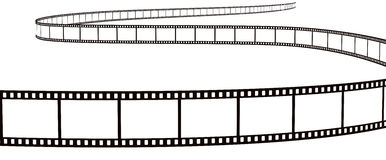 Streifen des fotographischen Filmes Stockbild