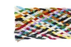 Streifen gesponnene Baumwolle mehrfarbig Stockbild