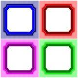 Streifen-Rahmen-Satz Stockfoto