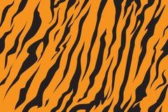 Streifen Sie das Dschungeltigerpelz-Beschaffenheitsmuster, das Schwarzes des orange Gelbs wiederholt lizenzfreie abbildung