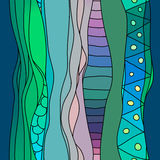 Streifen-Textilmuster Boho-Art gewelltes Bunter asiatischer oder afrikanischer nahtloser Osthintergrund Stockbilder