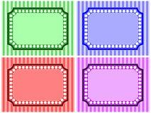 Streifen-und Punkt-Feld-Set Lizenzfreie Stockbilder