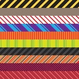 Streifen-Vielzahl-Satz Stockbilder