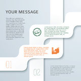 Streifen-von-Band-infographics-Investition-Art-Produktion Lizenzfreies Stockbild