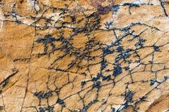 Streifen von den Felsen von Natur aus gebildet Stockbild