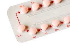 Streifen von Pillen. Stockbild