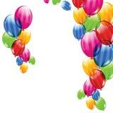 Streifenballone Lizenzfreie Stockbilder