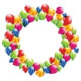 Streifenballone im Kreis Lizenzfreie Stockfotos