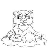 Streifenhörnchen der hohen Qualität drwan im Entwurf für die Färbung Lizenzfreie Stockfotografie