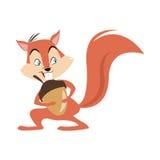 Streifenhörnchennuss-Karikaturikone Stockbilder