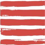 Streifenmeervektor-Bürsten-Hintergrund-Rot-Sommer lizenzfreie abbildung
