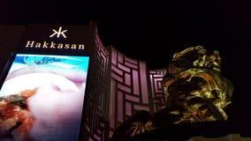 Streifennachtzeit Vegas Mgm Grand Lizenzfreie Stockfotografie