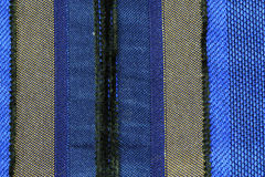 Streift blaues Gewebe Stockfotos