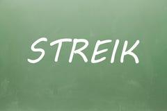 Streik написанное на классн классном Стоковое Изображение RF