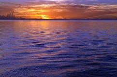 Streik des Sonnenuntergangs Stockfotos