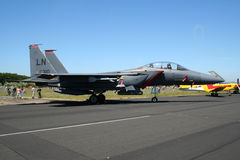 Streik-Eagle-Kampfflugzeug der US-Luftwaffe-F-15 Lizenzfreie Stockfotografie