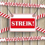 Streik Wooden Background Royalty Free Stock Photography