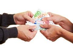Streit über Geld stockfoto