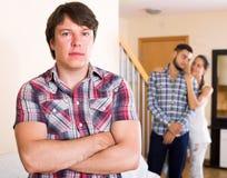 Streit unter erwachsenen Partnern Stockbild