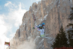 STREITBERGER Georg (AUT). VAL GARDENA, ITALY - DECEMBER 21:  STREITBERGER Georg (AUT) races down the Saslong competing in the Audi FIS Alpine Skiing World Cup Royalty Free Stock Images