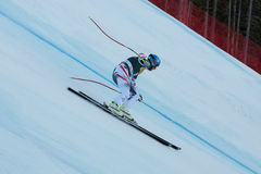 STREITBERGER Georg (AUT). VAL GARDENA, ITALY - DECEMBER 21:  STREITBERGER Georg (AUT) races down the Saslong competing in the Audi FIS Alpine Skiing World Cup Stock Photography