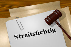 Streits?chtig - the German word for Argumentative Stock Photos