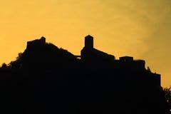 Strekov castle at sunrise Royalty Free Stock Image