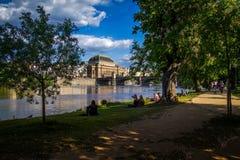 Strelecky island, Prague, Czech Republic Royalty Free Stock Image