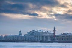Strelka of Vasilyevsky Island Royalty Free Stock Photography