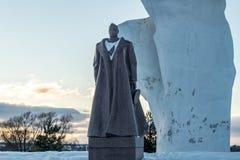 Strelkovka, Russia - February 2018: Monument to Marshal of the Soviet Union GK Zhukov stock photo