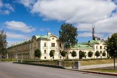 Strelna Россия На положении Сложн Palacio de Congresos стоковые изображения