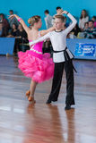 Strelskiy Aleksander and Ratomskaya Anna Perform Juvenile-1 Latin-American Program Stock Photography