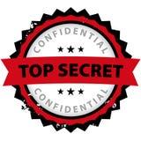 Streng geheim Bürogummi Lizenzfreies Stockbild