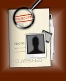 Streng geheim Datei-Foto lizenzfreie abbildung