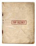 Streng geheim Dateien Stockfoto
