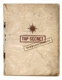 Streng geheim Dateien/vertraulich Stockbild
